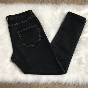 "Signature 8 black wash skinny jeans - 30"" waist"